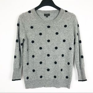 J. Crew | Polka Dot Sweater in Everyday Cashmere